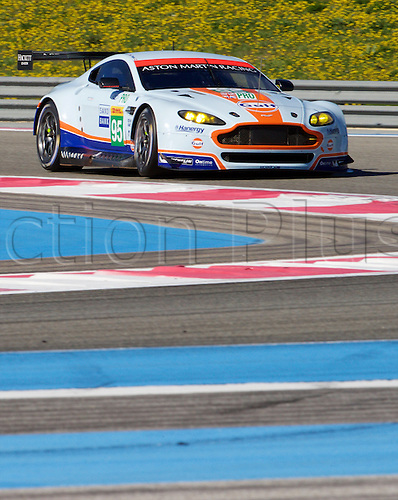 28.03.2015.  Le Castellet, France. World Endurance Championship Prologue Day 2. Aston Martin Racing Aston Martin Vantage V8 driven by Marco Sørensen.