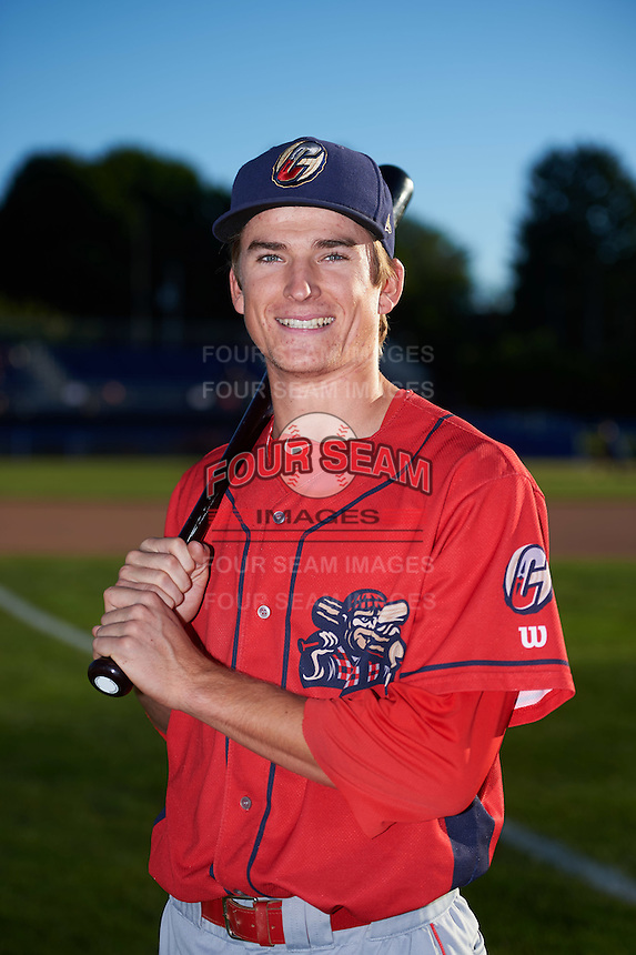 Williamsport Crosscutters third baseman Lucas Williams (12) poses for a photo before a game against the Batavia Muckdogs on September 2, 2016 at Dwyer Stadium in Batavia, New York.  Williamsport defeated Batavia 9-1. (Mike Janes/Four Seam Images)