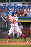Reading Fightin Phils third baseman Carlos Alonso (8) during a game against the Portland Sea Dogs on May 31, 2016 at Hadlock Field in Portland, Maine.  Reading defeated Portland 6-4.  (Mike Janes/Four Seam Images)