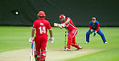 ICC World T20 Qualifier (Warm up match) - Canada V Namibia at Heriots CC, Edinburgh - Canada's Rizwan Cheems hits out on his way to making 97 off 35 balls — credit @ICC/Donald MacLeod - 06.7.15 - 07702 319 738 -clanmacleod@btinternet.com - www.donald-macleod.com