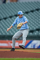 North Carolina Tar Heels starting pitcher Tyler Baum (23) in action against the Boston College Eagles in Game Five of the 2017 ACC Baseball Championship at Louisville Slugger Field on May 25, 2017 in Louisville, Kentucky.  The Tar Heels defeated the Eagles 10-0 in a game called after 7 innings by the Mercy Rule. (Brian Westerholt/Four Seam Images)