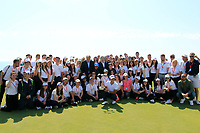 Joakim Lagergren (SWE) &amp; volunteers at prize giving the final round of the Rocco Forte Sicilian Open played at Verdura Resort, Agrigento, Sicily, Italy 13/05/2018.<br /> Picture: Golffile | Phil Inglis<br /> <br /> <br /> All photo usage must carry mandatory copyright credit (&copy; Golffile | Phil Inglis)