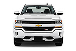 Car photography straight front view of a 2017 Chevrolet Silverado-1500 LT-Z71-Crew 4 Door Pick-up Front View