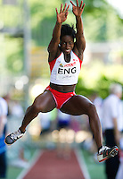 23 MAY 2010 - LOUGHBOROUGH, GBR - Phyllis Agbo (England) - Womens Long Jump - Loughborough International Athletics .(PHOTO (C) NIGEL FARROW)