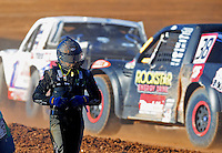 Apr 16, 2011; Surprise, AZ USA; LOORRS driver Nick Tyree after suffering a fire during round 3 at Speedworld Off Road Park. Mandatory Credit: Mark J. Rebilas-
