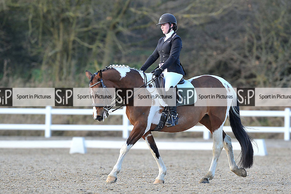Class 7. Medium 61 Affiliated dressage (BD). Brook Farm Training Centre. Essex. 14/01/2017. MANDATORY Credit Garry Bowden/Sportinpictures - NO UNAUTHORISED USE - 07837 394578