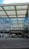 London: St. Pancras Station. Extension of shed roof for Chunnel.  Photo 2005.