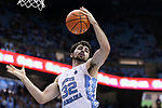 CHAPEL HILL, NC - DECEMBER 03: North Carolina's Luke Maye. The University of North Carolina Tar Heels hosted the Tulane University Green Wave on December 3, 2017 at Dean E. Smith Center in Chapel Hill, NC in a Division I men's college basketball game. UNC won the game 97-73.