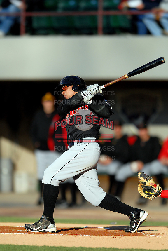 OF Jose Tabata of the  Indianapolis Indians, the AAA International League affiliate of the Pittsburgh Pirates,  at McCoy Stadium in Pawtucket, RI on April 29, 2010 (Photo by Ken Babbitt/Four Seam Images)