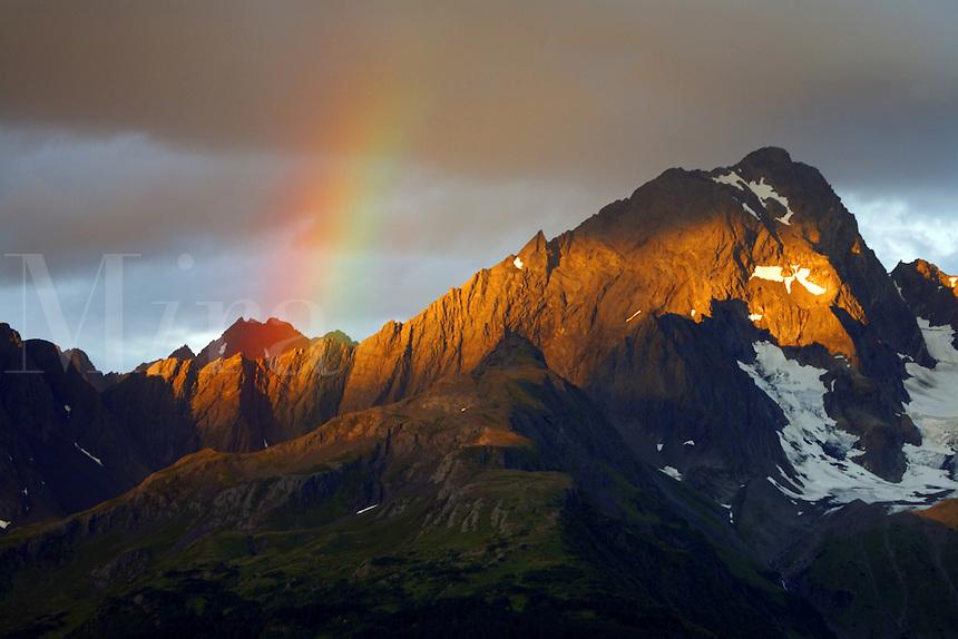 Rainbow over Mt. Alice, Chugach National Forest, Alaska.