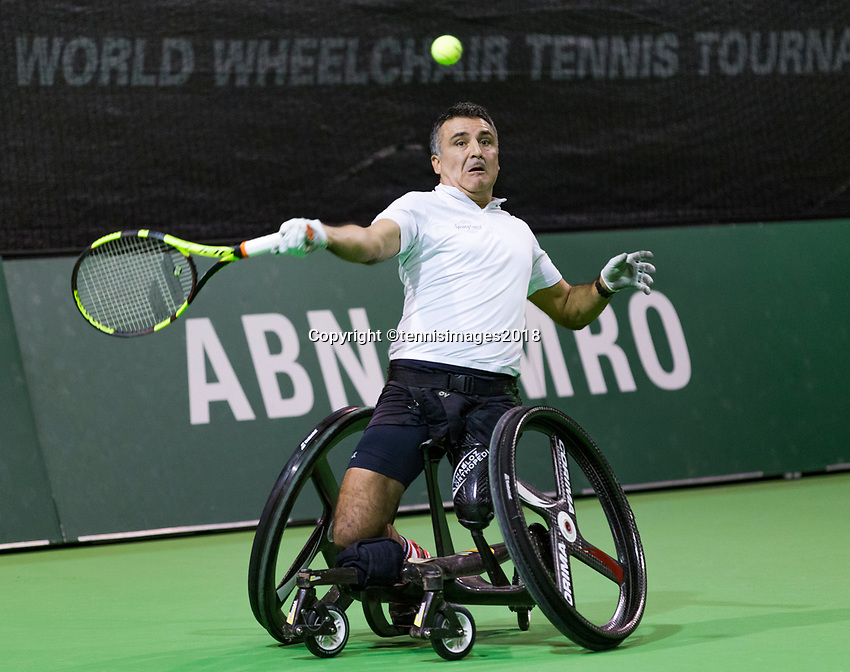 Rotterdam, The Netherlands,  15 Februari, 2018, Ahoy, Tennis, ABNAMRO World Tennis Tournament,  Wheelchair,<br /> Photo: www.tennisimages.com