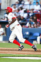 July 24 2008:  Joey Butler of the Spokane Indians, Short Season Class-A affiliate of the Texas Rangers, during a game at Home of the Avista Stadium in Spokane, WA.  Photo by:  Matthew Sauk/Four Seam Images