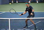 August 19,2017:   David Ferrer (ESP) loses in the semifinals  to Nick Kyrgios (AUS) 7-6, 7-6, at the Western & Southern Open being played at Lindner Family Tennis Center in Mason, Ohio.  ©Leslie Billman/Tennisclix