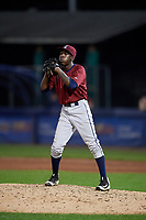 Mahoning Valley Scrappers relief pitcher Adoni Kery (52) gets ready to deliver a pitch during a game against the Williamsport Crosscutters on August 28, 2018 at BB&T Ballpark in Williamsport, Pennsylvania.  Williamsport defeated Mahoning Valley 8-0.  (Mike Janes/Four Seam Images)