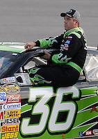 May 4, 2007; Richmond, VA, USA; Nascar Nextel Cup Series driver Jeremy Mayfield (36) during qualifying for the Jim Stewart 400 at Richmond International Raceway. Mandatory Credit: Mark J. Rebilas