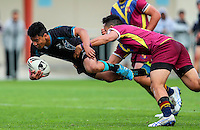 Action during the New Zealand Secondary Schools Nationals Semi-Finals, Southern Cross Campus (Mangere, BLACK) v St Johns College, Bruce Pulman Park, Papakura, Auckland, Thursday 1st September 2016. Photo: Simon Watts/www.bwmedia.co.nz