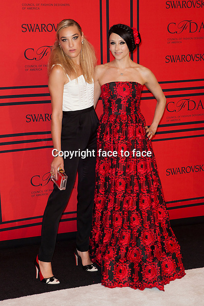 NEW YORK, NY - JUNE 3: Mia Moretti, Stacey Bendet at the 2013 CFDA Fashion Awards at Lincoln Center's Alice Tully Hall in New York City. June 3, 2013. <br /> Credit: MediaPunch/face to face<br /> - Germany, Austria, Switzerland, Eastern Europe, Australia, UK, USA, Taiwan, Singapore, China, Malaysia, Thailand, Sweden, Estonia, Latvia and Lithuania rights only -