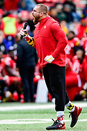 College Park, MD - OCT 27, 2018: Maryland Terrapins alum Mojo Rawley gets the crowd fired up during a timeout of the game between Maryland and Illinois at Capital One Field at Maryland Stadium in College Park, MD. The Terrapins defeated Illinois to move to 5-3 on the season. (Photo by Phil Peters/Media Images International)