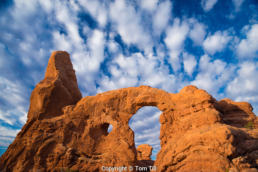 Morning clouds at Turret Arch, Arches National Park, Utah, Windows Section