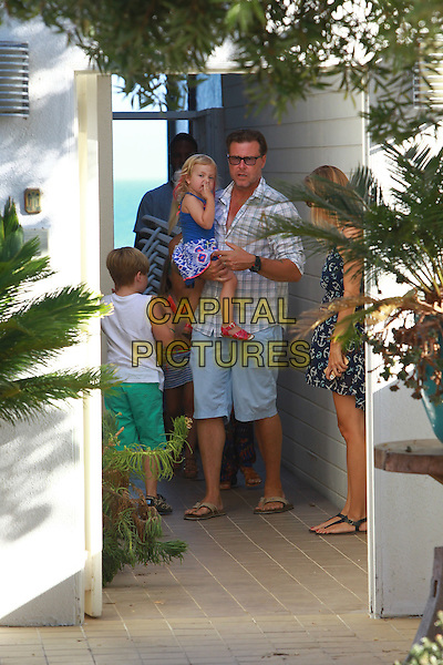 August 30 2014 Malibu California Tori Spelling and family their two year olds birthday party at her friends home in Malibu  <br /> CAP/MPI/JM<br /> &copy;John Misa/MediaPunch/Capital Pictures
