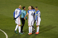 Columbus, Ohio - Friday, November 11, 2016: John Brooks, Michael Bradley, Jermaine Jones, Bobby Wood, Walter Lopez during a USMNT vs Mexico WCQ at Mapfre Stadium. Mexico defeated the USA 2-1.