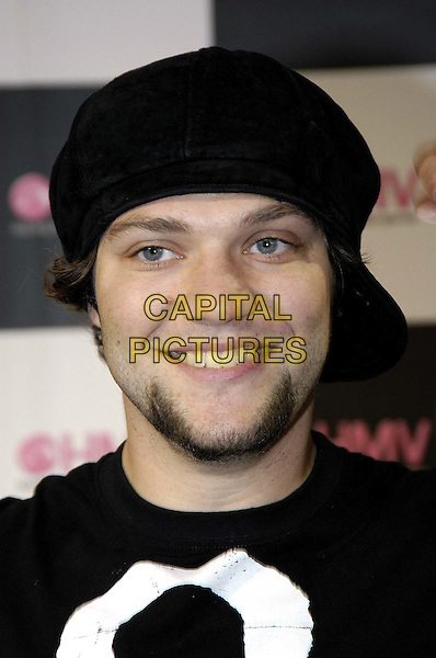 BAM MARGERA - JACKASS.Attends signing at HMV Music Store to promote CKY Trilogy Round 1 DVD.www.capitalpictures.com.sales@capitalpictures.com.©Capital Pictures.goatee beard, cap on sideways