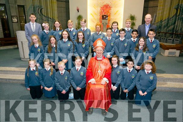 The 6th class students of Scoil Eoin Balloonagh who were Confirmed in Our Lady & St. Brendan's Church on Thursday April 14th 2016. By Bishop Ray Browne. Pictured Robert Kennedy, Confirmation Class with PP Fr. Padraig Walsh