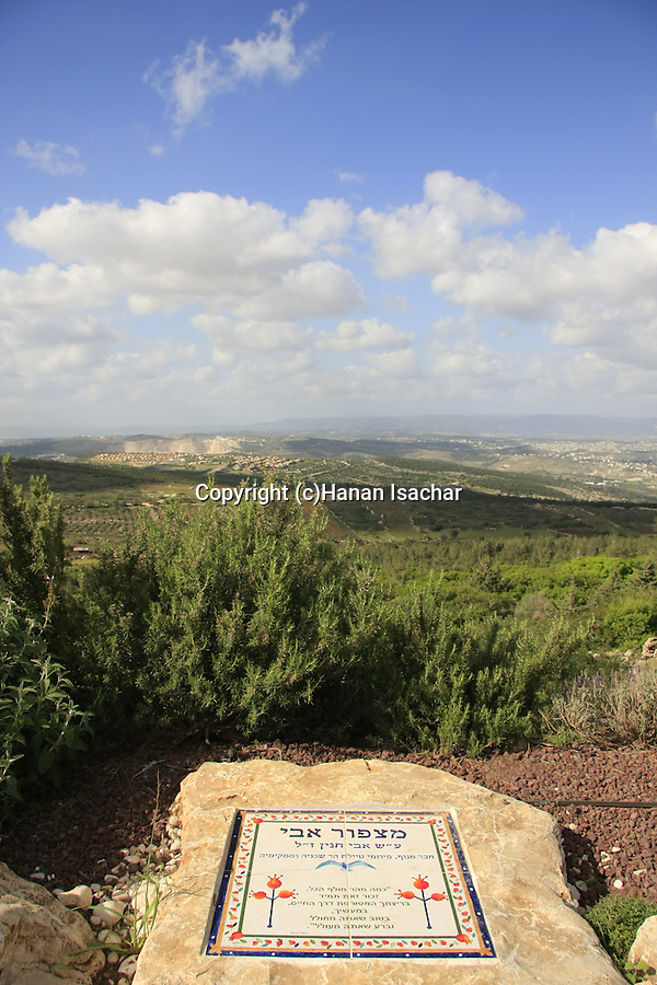 Israel, Lower Galilee, Avi lookout at Shkhanya forest