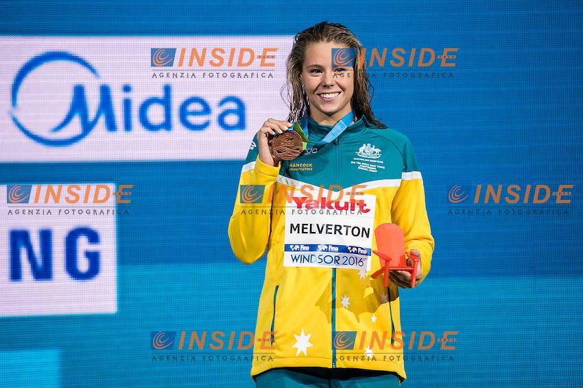 MELVERTON Kiah AUS BRONZE MEDAL<br /> Women's 800m Freestyle<br /> 13th Fina World Swimming Championships 25m <br /> Windsor  Dec. 8th, 2016 - Day03 Finals<br /> WFCU Centre - Windsor Ontario Canada CAN <br /> 20161208 WFCU Centre - Windsor Ontario Canada CAN <br /> Photo &copy; Giorgio Scala/Deepbluemedia/Insidefoto