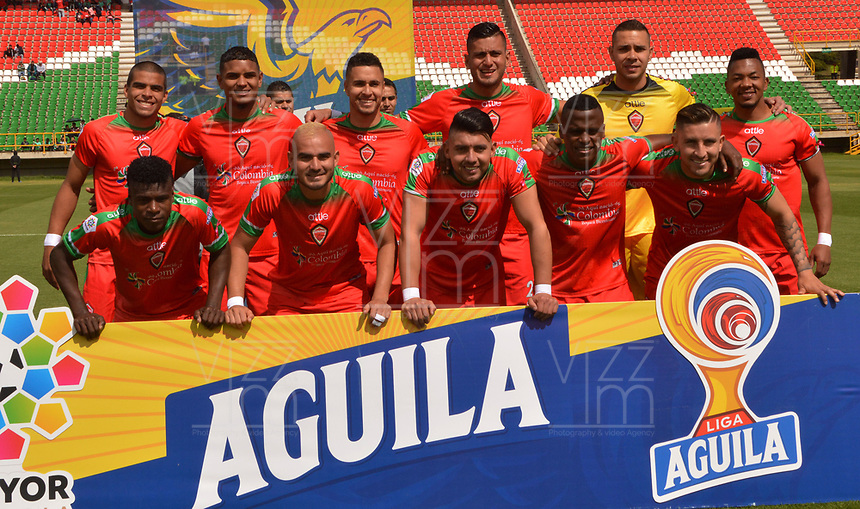 TUNJA- COLOMBIA, 19-10-2019:Formación  de  Patriotas Boyacá ante el Deportivo Pasto durante partido por la fecha 18 de la Liga Águila II  2019 jugado en el estadio La Independencia de la ciudad de Tunja. /Team of Patriotas Boyaca againts of Deportivo Pasto during the match for the date 18 of the Liga Aguila II 2019 played at the La Independencia stadium in Tunja city. Photo: VizzorImage / José Miguel Palencia / Contribuidor
