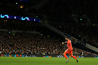 26th November 2019; Tottenham Hotspur Stadium, London, England; UEFA Champions League Football, Tottenham Hotspur versus Olympiacos; Jose Sa of Olympiakos celebrates the goal by Rúben Semedo for 0-2 in the 19th minute
