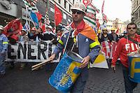 ROMA 26 NOVEMBRE 2009.MANIFESTAZIONE LAVORATORI SARDI ALCOA.