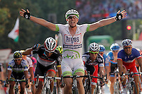 John Degenkolb (c) winner during the stage of La Vuelta 2012 between Logroño and Logroño in presence of Daniele Bennati (l), second classified and Gianni Meersman, third.August 22,2012. (ALTERPHOTOS/Acero) /NortePhoto.com<br /> <br /> **SOLO*VENTA*EN*MEXICO**<br /> **CREDITO*OBLIGATORIO**<br /> *No*Venta*A*Terceros*<br /> *No*Sale*So*third*<br /> *** No Se Permite Hacer Archivo**<br /> *No*Sale*So*third*