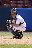 March 14, 2010:  Catcher Brady Stewart of the Akron Zips vs. the Yale Bulldogs in a game at Chain of Lakes Park in Winter Haven, FL.  Photo By Mike Janes/Four Seam Images