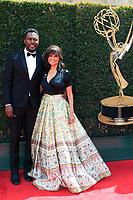 PASADENA - APR 29: Richard Brooks, Victoria Rowell at the 45th Daytime Emmy Awards Gala at the Pasadena Civic Center on April 29, 2018 in Pasadena, California