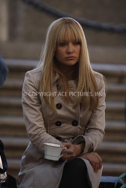 WWW.ACEPIXS.COM . . . . .  ....May 28, 2008. New York City.....Actress Kate Hudson on the set of 'Bride Wars' in midtown Manhattan.......Please byline: AJ Sokalner - ACEPIXS.COM.... *** ***..Ace Pictures, Inc:  ..Philip Vaughan (646) 769 0430..e-mail: info@acepixs.com..web: http://www.acepixs.com