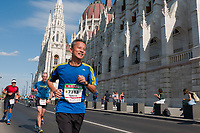 People participate Budapest Marathon across the streets in Budapest, Hungary on Sept. 29, 2019. ATTILA VOLGYI