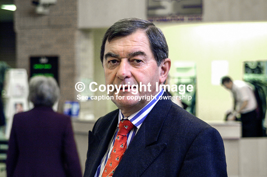 Geoffrey Martin, European Union Ambassador to the UK. Mr Martin is a native of N Ireland. Diplomat. Ref: 2000100350, Taken at Conservative Party Annual Conference in Bournemouth, England...Copyright Image from Victor Patterson, 54 Dorchester Park, Belfast, UK, BT9 6RJ..Tel: +44 28 9066 1296.Mob: +44 7802 353836.Voicemail +44 20 8816 7153.Skype: victorpattersonbelfast.Email: victorpatterson@mac.com.Email: victorpatterson@ireland.com (back-up)..IMPORTANT: If you wish to use this image or any other of my images please go to www.victorpatterson.com and click on the Terms & Conditions. Then contact me by email or phone with the reference number(s) of the image(s) concerned.