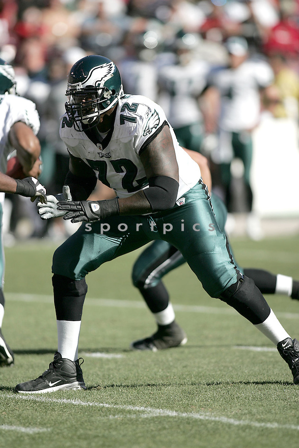 TRA THOMAS, of the Philadelphia Eagles, in action against the San Francisco 49ers during the Eagles game in San Francisco, ca on October 12, 2008. ..Eaagles win 40-26