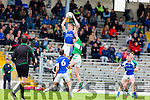 Tommy Walsh Kerins O'Rahillys rises above Legions Billy McGuire during their County Championship quarter final in Fitzgerald Stadium on Saturday