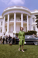 Betty Ford outside White House - A break in at the Democratic National Committee headquarters at the Watergate complex on June 17, 1972 results in one of the biggest political scandals the US government has ever seen.  Effects of the scandal ultimately led to the resignation of  President Richard Nixon, on August 9, 1974, the first and only resignation of any U.S. President.