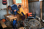 Braise, moving himself from desk to desk in class.<br />
