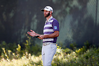 Dustin Johnson (USA) checks his yardage book on the second hole during the third round of the 118th U.S. Open Championship at Shinnecock Hills Golf Club in Southampton, NY, USA. 16th June 2018.<br /> Picture: Golffile | Brian Spurlock<br /> <br /> <br /> All photo usage must carry mandatory copyright credit (&copy; Golffile | Brian Spurlock)