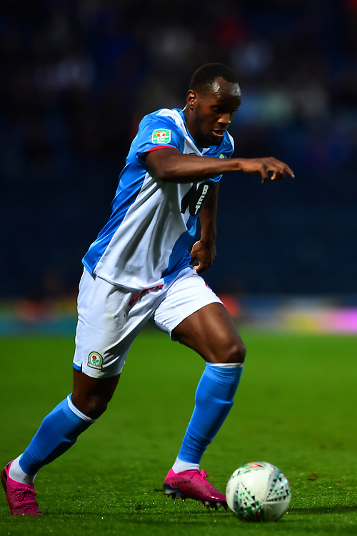 Blackburn Rovers' Ryan Nyambe in action<br /> <br /> Photographer Richard Martin-Roberts/CameraSport<br /> <br /> The Carabao Cup First Round - Tuesday 13th August 2019 - Blackburn Rovers v Oldham Athletic - Ewood Park - Blackburn<br />  <br /> World Copyright © 2019 CameraSport. All rights reserved. 43 Linden Ave. Countesthorpe. Leicester. England. LE8 5PG - Tel: +44 (0) 116 277 4147 - admin@camerasport.com - www.camerasport.com