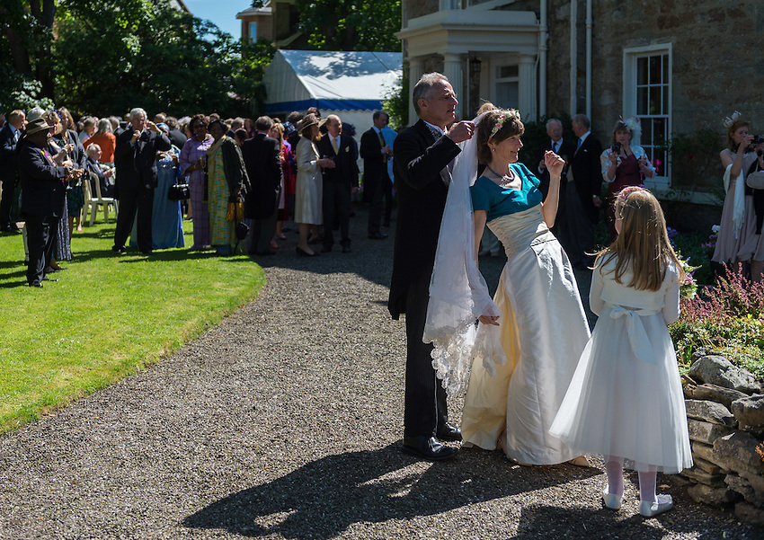 Amanda Paul and John Freeman wedding at Ayr in Scotland, Saturday 20th June 2015.