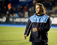 Cardiff Blues' Josh Navidi during the pre match warm up<br /> <br /> Photographer Simon King/CameraSport<br /> <br /> Guinness Pro14 Round 6 - Cardiff Blues v Dragons - Friday 6th October 2017 - Cardiff Arms Park - Cardiff<br /> <br /> World Copyright &copy; 2017 CameraSport. All rights reserved. 43 Linden Ave. Countesthorpe. Leicester. England. LE8 5PG - Tel: +44 (0) 116 277 4147 - admin@camerasport.com - www.camerasport.co