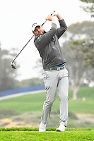 26th January 2020, Torrey Pines, La Jolla, San Diego, CA USA; Marc Leishman tees off on the 5th hole on the South Course during the final round of the Farmers Insurance Open golf tournament at Torrey Pines Municipal Golf Course on January 26, 2020.