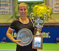 Rotterdam, Netherlands, December 20, 2015,  Topsport Centrum, Lotto NK Tennis, Final womans single  Richel Hogenkamp winner <br /> Photo: Tennisimages/Henk Koster