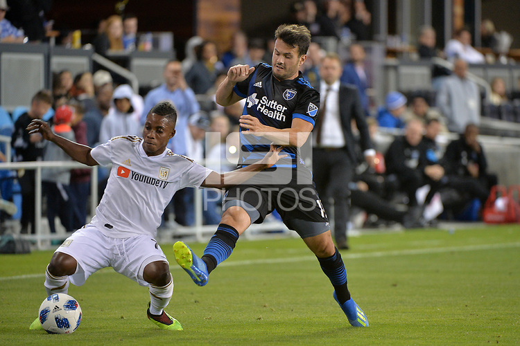 San Jose, CA - Saturday June 09, 2018: Latif Blessing, Vako during a Major League Soccer (MLS) match between the San Jose Earthquakes and Los Angeles Football Club at Avaya Stadium.