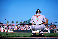 SAN FRANCISCO, CA - Jeff Bagwell of the Houston Astros waits in the on deck circle during a game against the San Francisco Giants at Pacific Bell Park in San Francisco, California in 2001. Photo by Brad Mangin